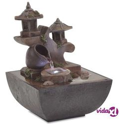 Vidaxl fontanna pokojowa ze światłem led, żywica syntetyczna (8718475531487)