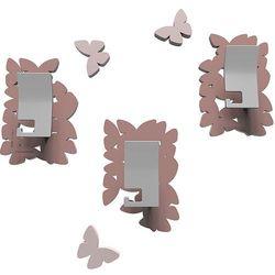 Wieszaki ścienne dekoracyjne Butterflies CalleaDesign pochmurny róż