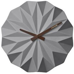 Karlsson :: zegar origami ceramic matt grey Ø27cm - szary
