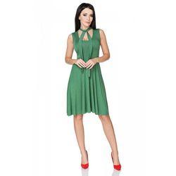 Zielona Sukienka Wiązana na Karku, w 5 rozmiarach