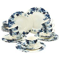 Creatable Blue Flowers serwis obiadowo - kawowy 30 el., 20772