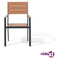 krzesło ogrodowe jasne drewno como marki Beliani