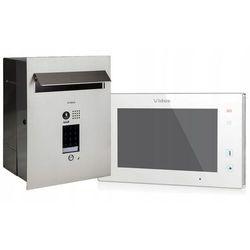 Zestaw wideodomofonu z szyfratorem s1401d-skp_m1021w skrzynka na listy z wideodomofonem monitor biały 7'' marki Vidos