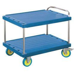 Wózek stołowy do dużych obciążeń, dł. x szer. 1200x800 mm, nośność 1000 kg, nieb