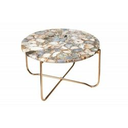 INVICTA stolik kawowy NOBLE AGAT 62 - kamień agat, metal