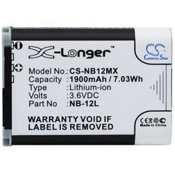 Canon LEGRIA Mini X / NB-12L 1900mAh 7.03Wh Li-Ion 3.6V (Cameron Sino) - produkt z kategorii- akumulatory dedykowane