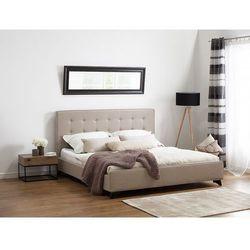Nowoczesne łóżko tapicerowane ze stelażem 180x200 cm beżowe AMBASSADOR (7081459518233)