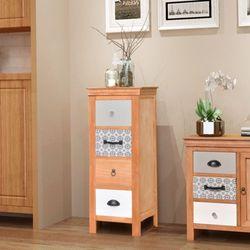 Vidaxl  szafka z szufladkami 35x35x90 cm lite drewno (8718475974611)