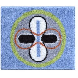 dywanik łazienkowy karim 01, niebieski, 50x60 cm marki Grund
