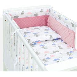 MAMO-TATO 3-el pościel do łóżeczka 70x140 Velvet PIK - Niedźwiadki z niebieskim / różany
