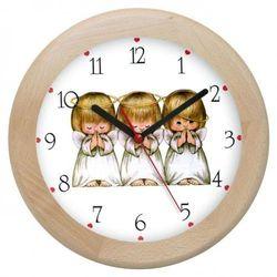 Atrix Zegar drewniany rondo aniołki