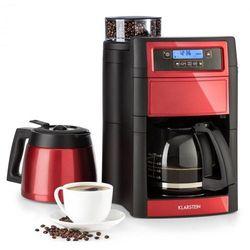 Klarstein aromatica ii duo, ekspres przelewowy do kawy, wbudowany mechanizm mielący, 1,25 l, kolor czerwony (