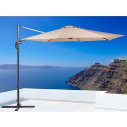 Parasol ogrodowy - mokka - ø 291 cm - na wysięgniku - metalowy - savona marki Beliani