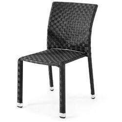 Krzesło ogrodowe z czarnego rattanu bez podłokietników - produkt z kategorii- Krzesła ogrodowe