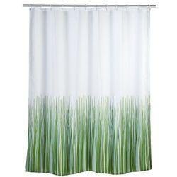 Wenko Zasłona prysznicowa, tekstylna, - zasłona z antyplesniowego materiału natura, 180x200 cm,
