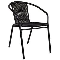 Krzesło ogrodowe metalowe na balkon czarne