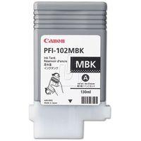 Tusz Canon PFI102-MBK Matte Black, kolor Czarny
