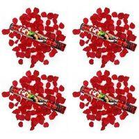 Tuba strzelająca, bordowe sztuczne płatki róż, 40cm, 4 szt. (5901157437921)