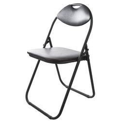 Krzesło skladane Domino czarne (5904842631802)