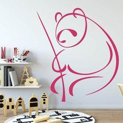 Wally - piękno dekoracji Naklejka welurowa dla dzieci miś panda 2006