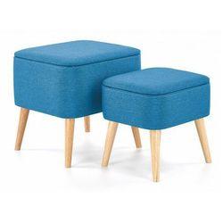 Producent: elior Zestaw tapicerowanych puf moldi - niebieski