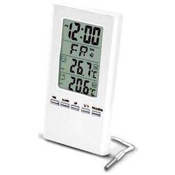 Terd1508w termometr wewn. zewn. zegar biały marki Cyfronika