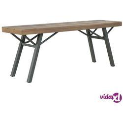 vidaXL Ławka ogrodowa, 120 cm, lite drewno akacjowe