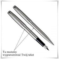 Zestaw długopis i pióro Parker Sonnet Stalowy CT z opcją graweru dowolnych życzeń z kategorii Na imieniny