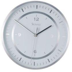 Emako Okrągły zegar ścienny segnale, aluminium, Ø 30 cm (8711295705632)