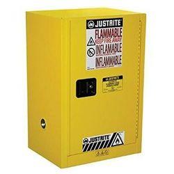 Justrite safety group Szafa ognioodporna (45 l),1-drzwiowa żółty do 100 l. 0 - 1 szt. manualne 89cm x 59cm x 46cm