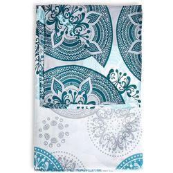 Bonprix Narzuta we wzór ornamentów niebieskozielono-miętowy