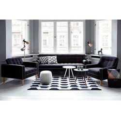 Beliani Kanapa ciemnoszara - sofa - wypoczynek - tapicerowana - flam