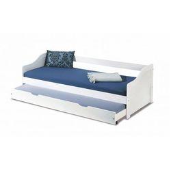 Producent: elior Dwuosobowe łóżko rozsuwane legis - białe