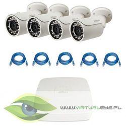 """Zestawy do Monitoringu """"Dahua 1.3MP PoE"""". 4 x Kamera IPC-HFW1120S-0360B, Rejestrator PoE DAHUA DHI-NVR1104-P, skrętka, kup u jednego z partnerów"""
