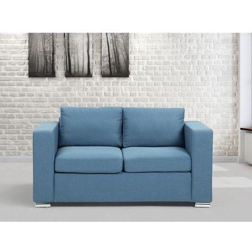 Sofa niebieska - dwuosobowa - kanapa - sofa tapicerowana - HELSINKI - produkt dostępny w Beliani