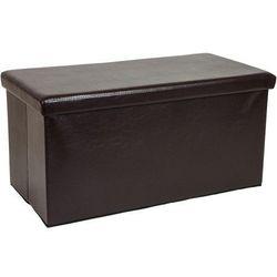 Stilista ® Duża brązowa składana pufa cube siedzisko kufer - brązowy (40040296)