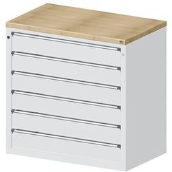 Szafa na materiały i kontuary do wydawania narzędzi, 6 szuflad 150 mm, szary. id marki Anke werkbänke - anton kessel