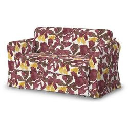Dekoria Pokrowiec na sofę Hagalund, żółto-brązowe kwiaty, Sofa Hagalund, Wyprzedaż do -30%