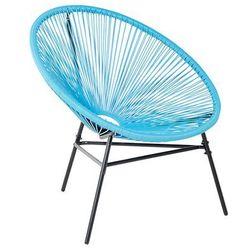 Krzesło ogrodowe niebieskie acapulco marki Beliani