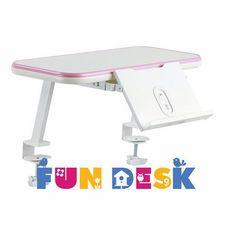 Fundesk Ss16 pink - mini półka na książki z podstawką -