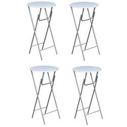 Vidaxl stoliki barowe z blatami mdf, białe, 4 szt. (8718475826309)