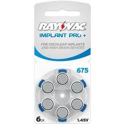 6 x baterie do aparatów słuchowych Rayovac 675 IMPLANT PRO+ MF - produkt z kategorii- Baterie