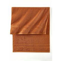 Ręczniki z ciężkiego materiału terakota marki Bonprix
