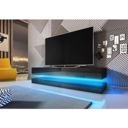 Szafka RTV FLY Double czarny mat/wysoki połysk