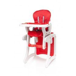 4Baby Fashion krzesełko do karmienia + stolik 2 w 1 red NOWOŚĆ z kategorii Krzesełka do karmienia