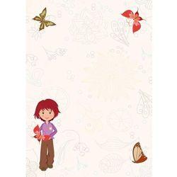 tablica magnetyczna suchoscieralna dla dzieci dziewczynka, motyle 142