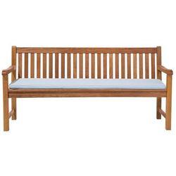 Ławka ogrodowa drewniana 180 cm poducha jasnoniebieska JAVA (4260586357226)