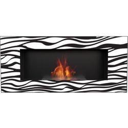 Kratki Biokominek delta 2 czarny zebra