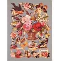 Efco Obrazki scrapooking 24x17 cm - kwiaty/ptaki/motyle - kpm