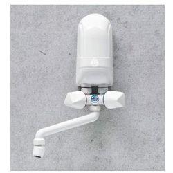 DAFI Nadumywalkowy elektryczny przepływowy podgrzewacz wody IPX5 5,5kW z białą baterią - produkt z kategorii- Bojlery i podgrzewacze